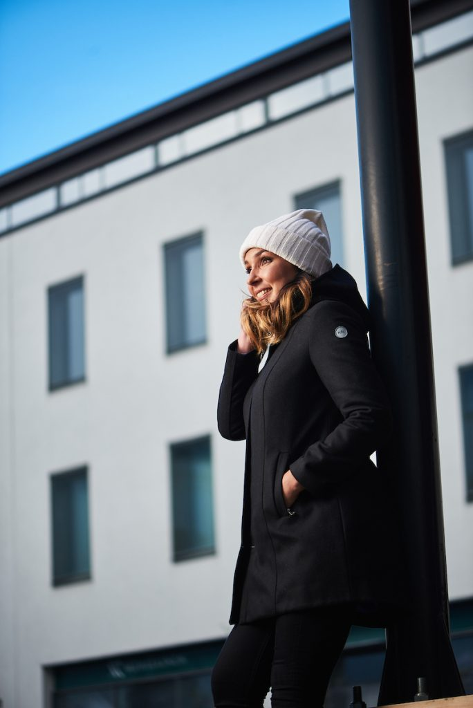 Nål Parka Wool Jacket Women Harmaa