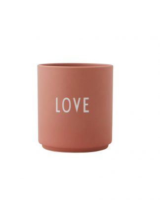 Design Letters Love Favourite Cup Vaaleanpunainen