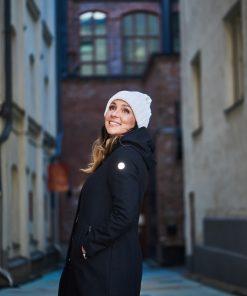 Nål Functional Wool Coat With Reflectors Women Musta