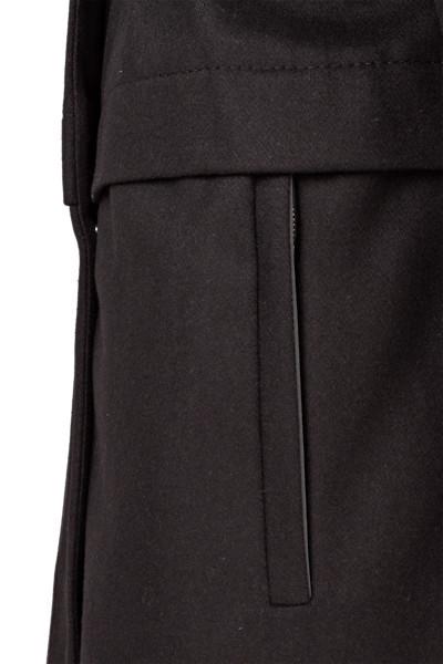 Nål Functional Wool Coat Women Musta