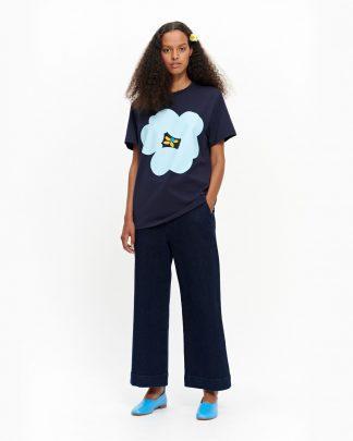 Marimekko Pitkähiha T-Shirt Turkoosi