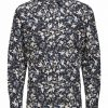 Selected Slimpen-Lugh Shirt Aop Blue Sininen