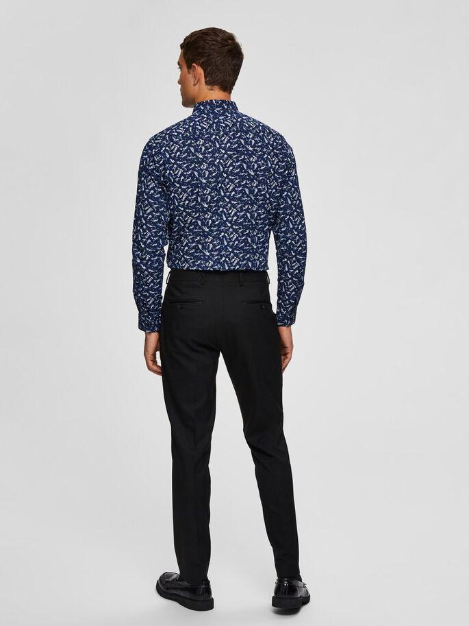 Selected Regpen-Dunn Shirt Aop Blue Sininen