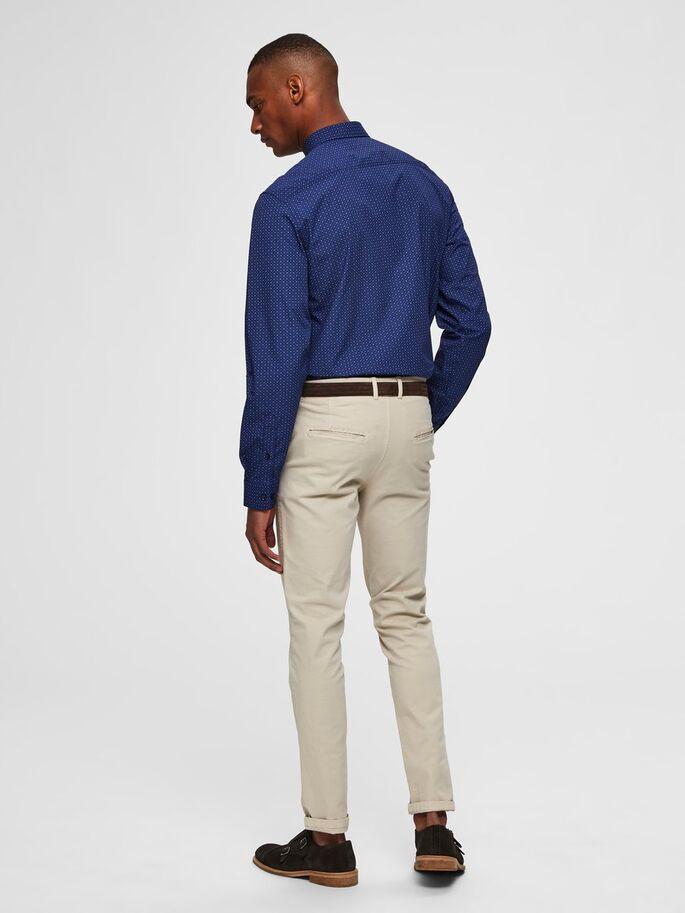 Selected Slimpen-Circle Shirt Aop Blue Sininen