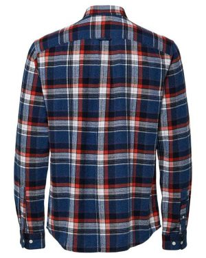 Selected Reggunnar-Niels Shirt Mix Red Punainen