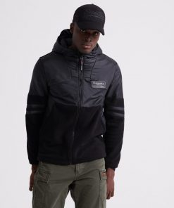 Superdry Polar International Zip Hood Musta