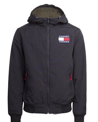 Tommy Jeans Padded Nylon Jacket Musta