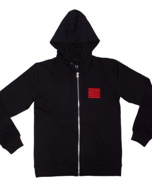 Billebeino Zip Hoodie With Brick Print Musta