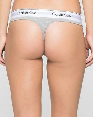 Ck Thong Modern Cotton Harmaa