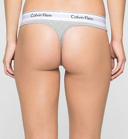 Ck Thong Modern Cotton Harmaa