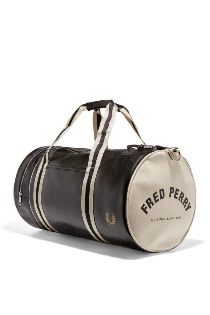 Fred Perry Classic Barrel Bag Musta-Valkoinen