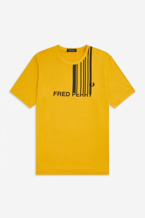 Fred Perry Graphic T-Shirt Keltainen