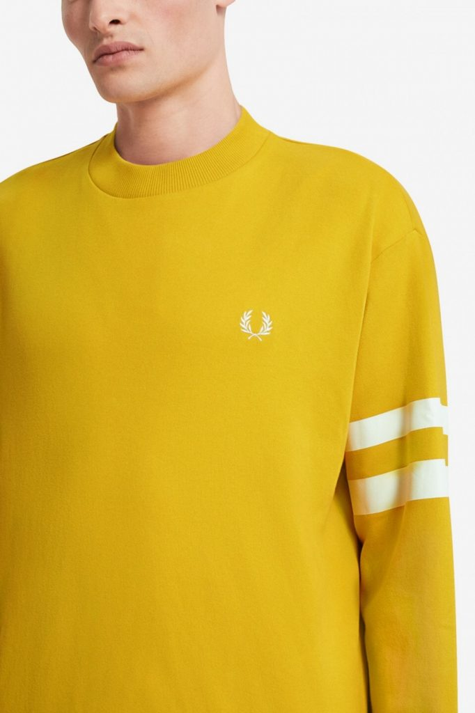 Fred Perry Tipped Sleeve T-Shirt Keltainen