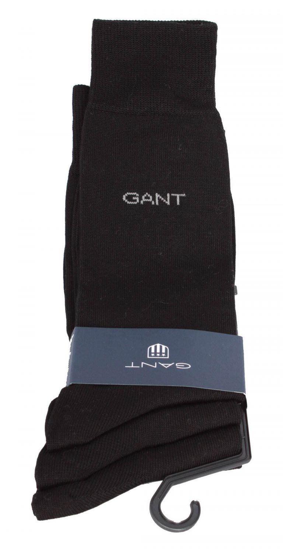 Gant Cotton Socks 3Pack Musta