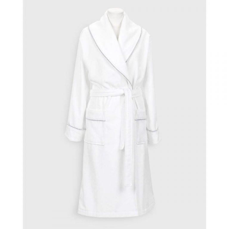 Gant Home Premium Velour Robe Valkoinen