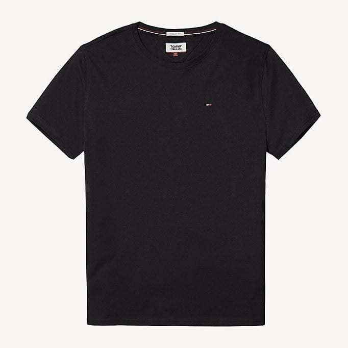 Hilfiger New Stretch C-Nk T-Shirt Musta