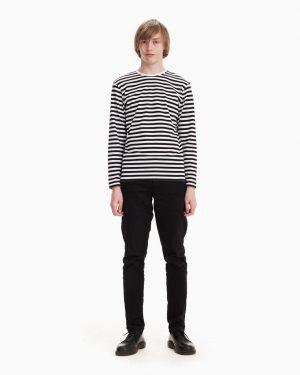 Marimekko Tasaraita Jersey Shirt Musta