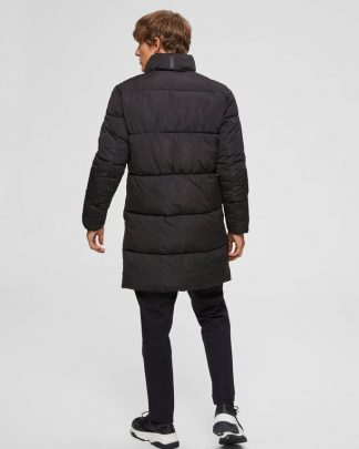 Selected Puffer Parka Black Musta