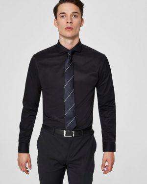 Selected Slimsel-Pelle Shirt Ls Valkoinen