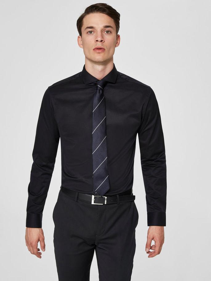 Selected Slimsel-Pelle Shirt Ls Musta