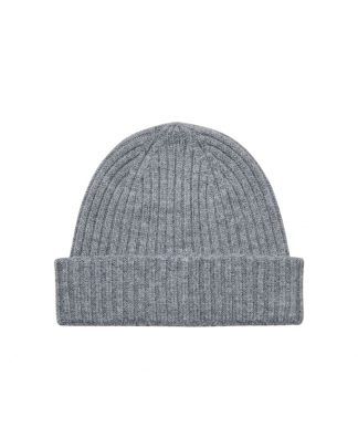 Selected Merino Wool Beanie Grey Harmaa