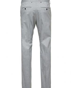Selected Slim-Mylologan Light Gre Grey Harmaa