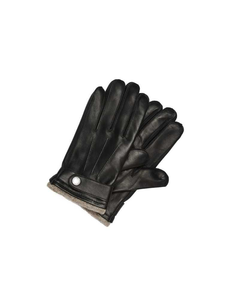 Selected Tim Leather Glove Black Musta