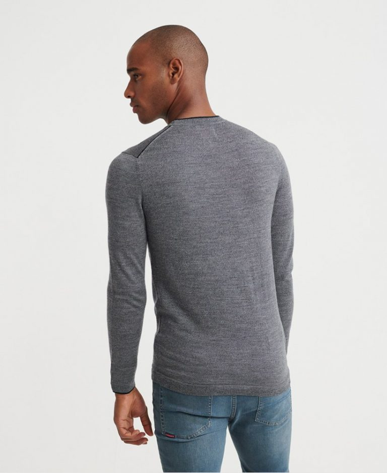 Superdry Edit Merino Crew Granit