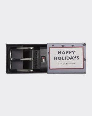 Tommy Hilfiger New Denton Giftbox Belt Musta