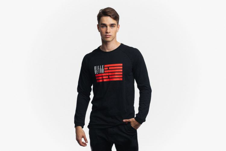 Billebeino Flag Long Sleeve Musta