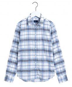 Gant Check Twill Shirt Luonnonvalkoinen