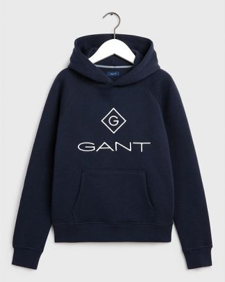 Gant Teens Lock-Up Sweat Hoodie Blue