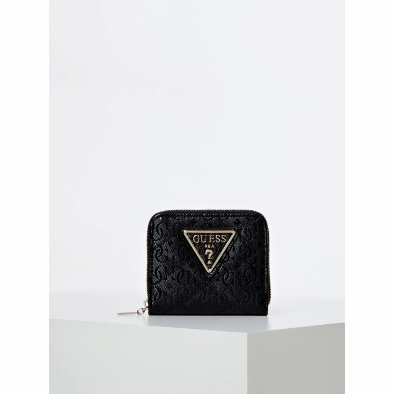 Guess Astrid Small Zip Around Wallet Musta