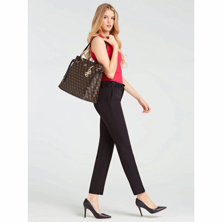 Guess Digital Shopper Bag Ruskea