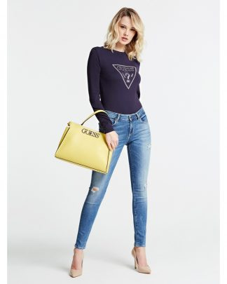 Guess Uptown satchel laukku keltainen