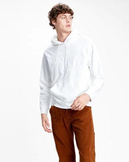 Levi's Pieced Pullover Hoodie Valkoinen