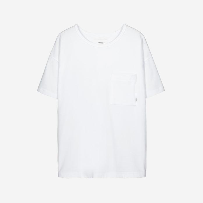 Makia Dusk T-Shirt Valkoinen