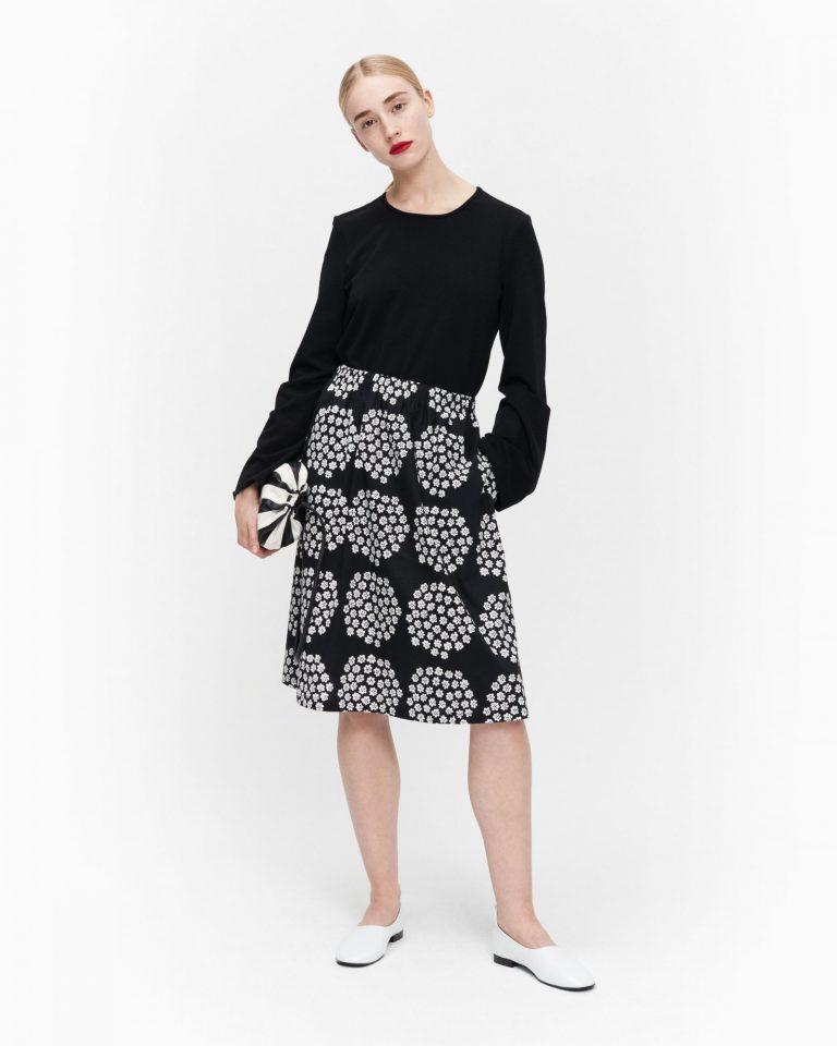 Marimekko Lailla Puketti Skirt Musta