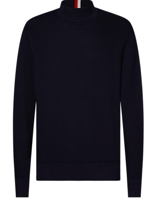 Tommy Hilfiger Sleeve Branded Knitted Sweater Sininen