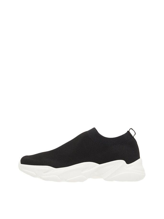 Bianco Biacase Knit Sneaker Musta