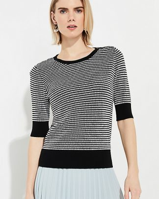 comma short sleeve blouse