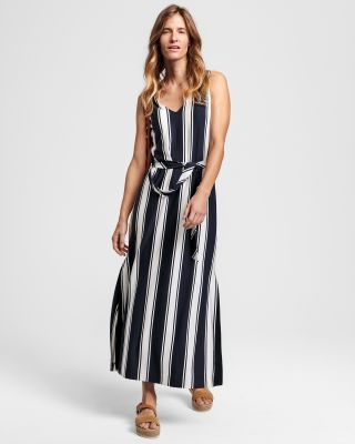 Gant striped maxi dress