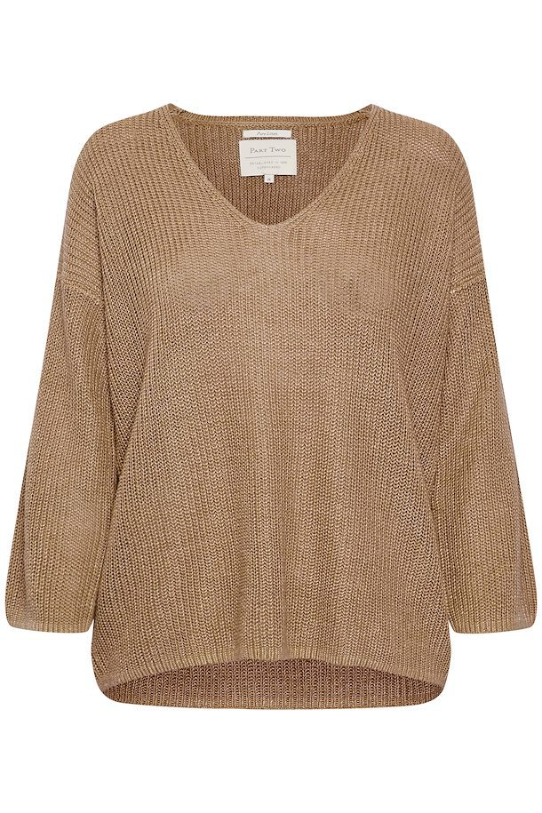 Part Two Petrona Linen Pullover Brown