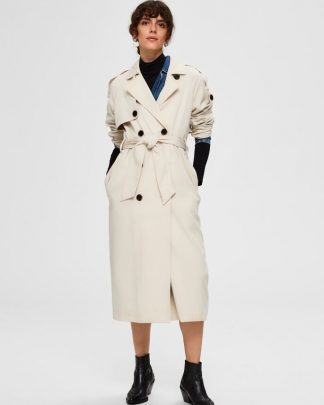 Selected Femme Bren Trench Coat Sininen