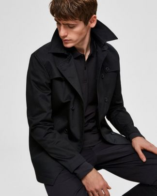 Selected Timeless Coat Musta