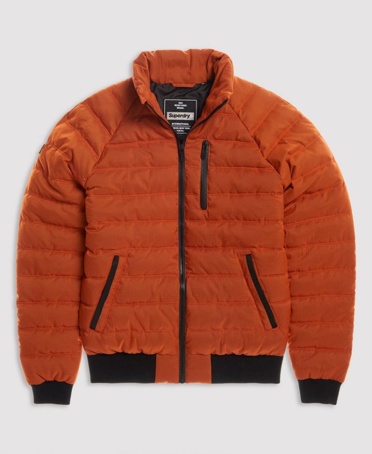 Superdry Commuter Quilted Bomber Oranssi