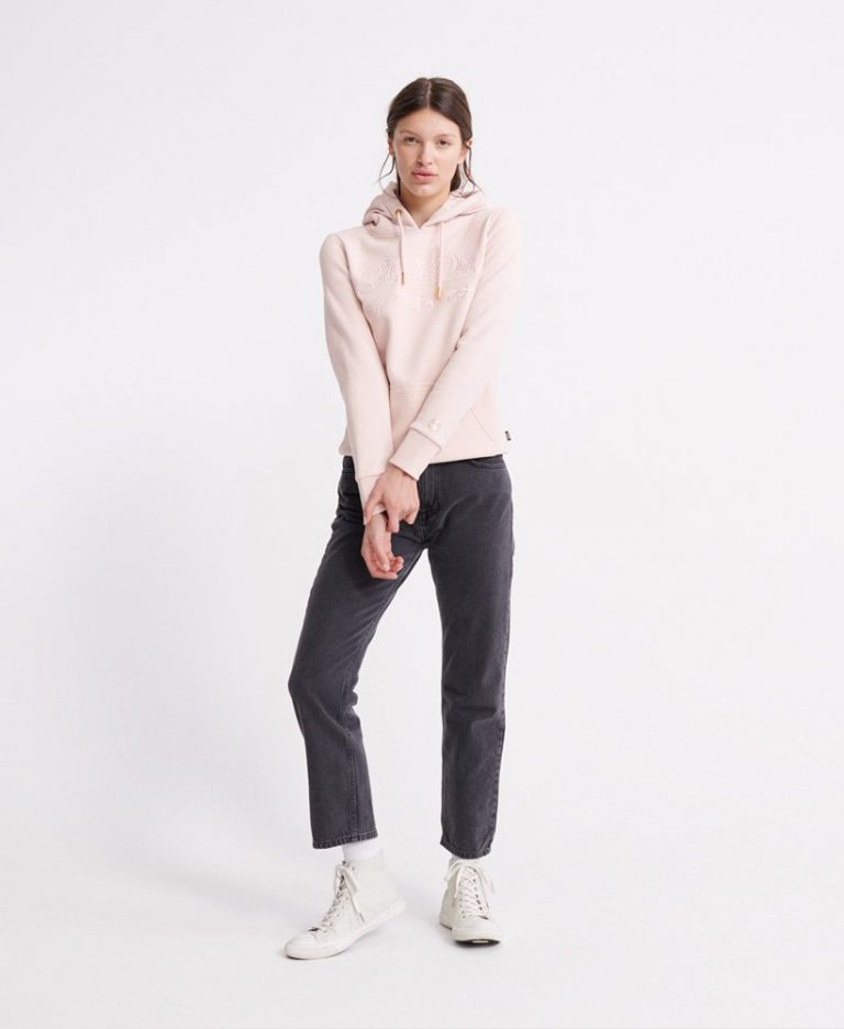 Superdry Outline Entry Hood Peach