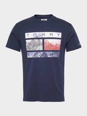 Tommy Jeans Photo Print Tee Tumman Sininen