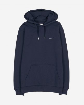 Makia Trim Hooded Sweatshirt Tummansininen