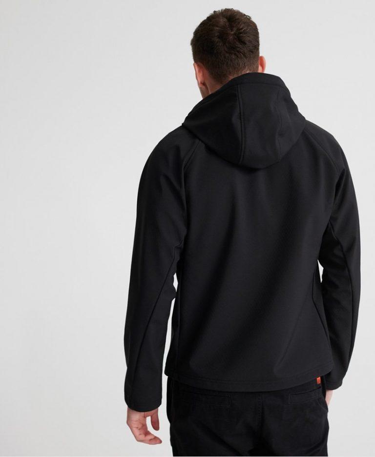 Superdry Hooded Softshell Jacket Musta